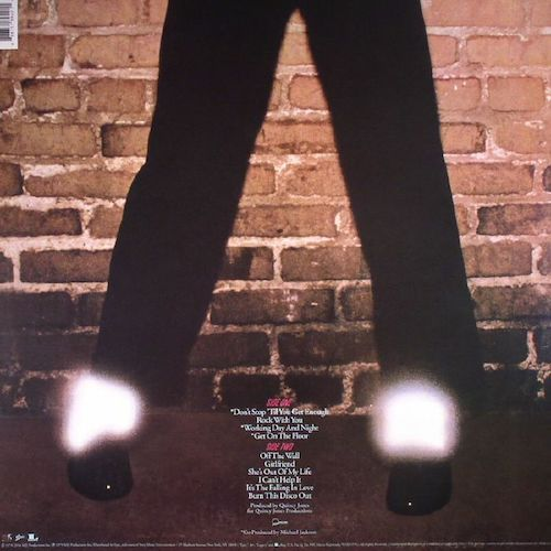 Michael Jackson – Off The Wall – Back