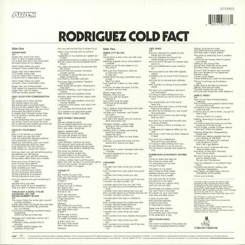 Rodriguez – Cold Fact – Back