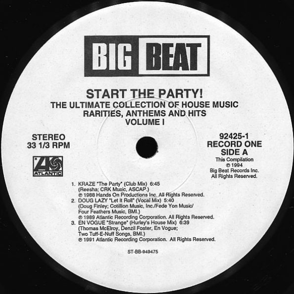 Various – Start The Party! Volume 1 – A