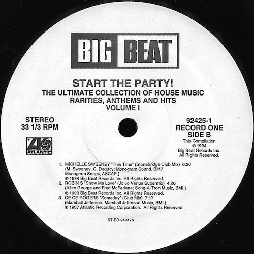 Various – Start The Party! Volume 1 – B