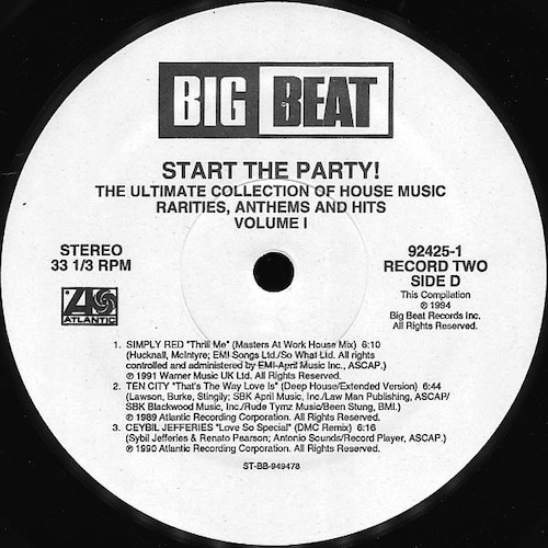 Various – Start The Party! Volume 1 – D