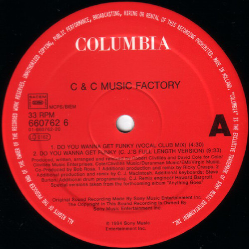 C+C Music Factory – Do You Wanna Get Funky – A
