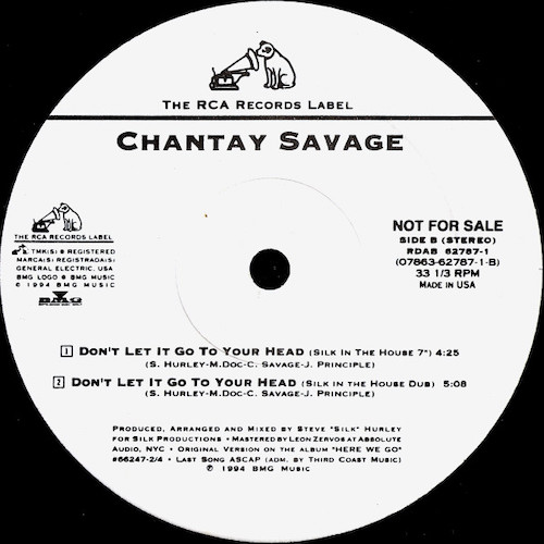 Chantay Savage – Don't Let It Go To Your Head – B
