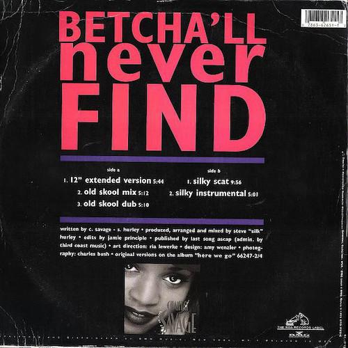 Chantay Savage – Betcha'll Never Find – Back