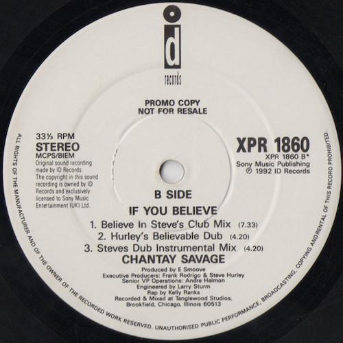 Chantay Savage – If You Believe – B