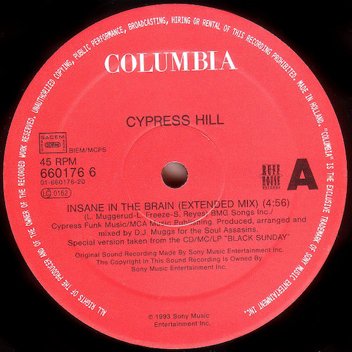 Cypress Hill – Insane In The BrainCypress Hill – Insane In The Brain EP – A