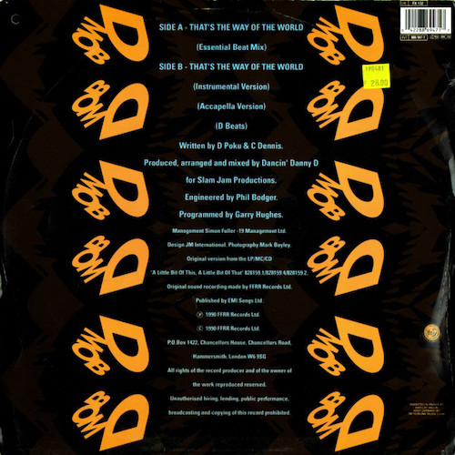 D Mob – That's The Way Of The World – Back