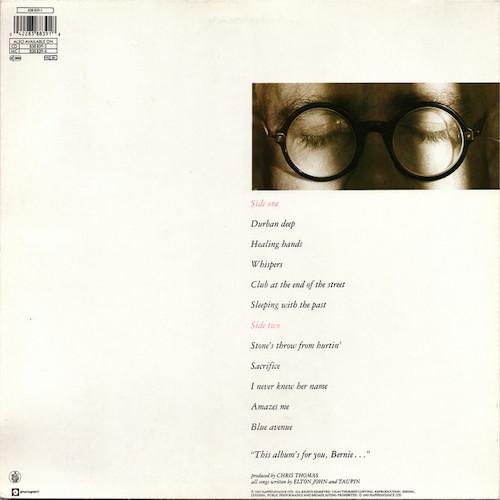 Elton John – Sleeping With The Past – Back