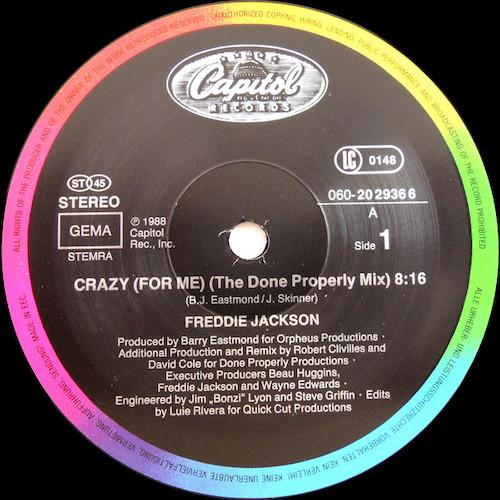 Freddie Jackson – Crazy (For Me) – A