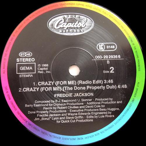 Freddie Jackson – Crazy (For Me) – B
