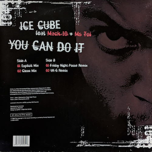 Ice Cube – You Can Do It – Back
