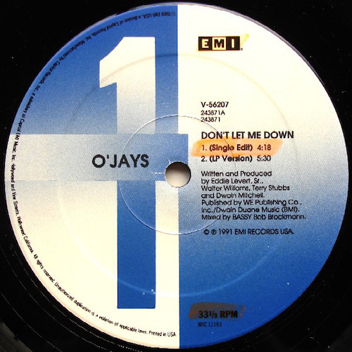 O'Jays – Don't Let Me Down – A