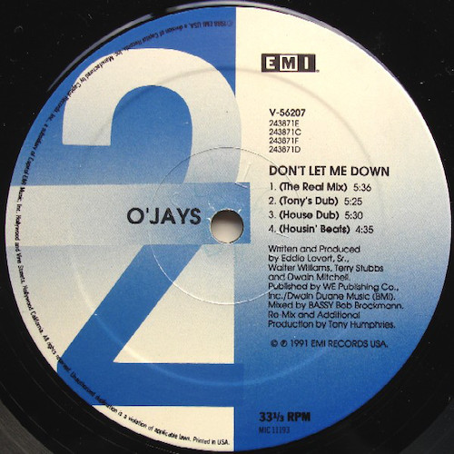 O'Jays – Don't Let Me Down – B