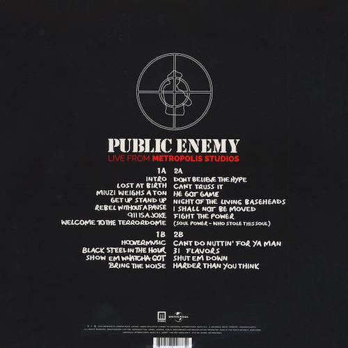 Public Enemy – Live From Metropolis Studios – Back