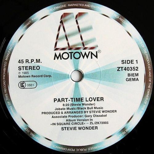 Stevie Wonder – Part Time Lover – A