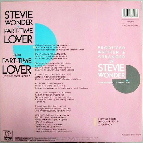 Stevie Wonder – Part Time Lover – Back