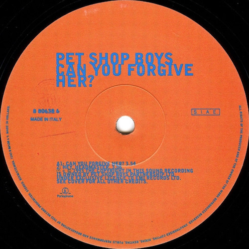 Pet Shop Boys – Can You Forgive Her? – A
