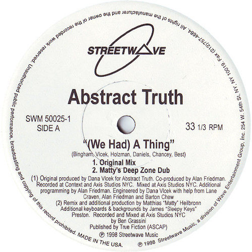 Abstract Truth – We Had A Thing – A