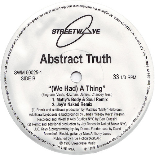 Abstract Truth – We Had A Thing – B