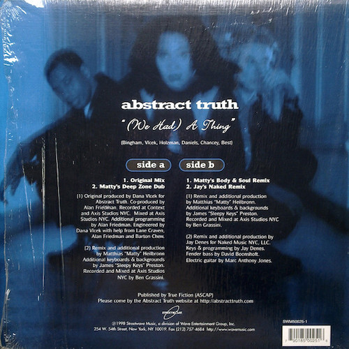 Abstract Truth – We Had A Thing – Back