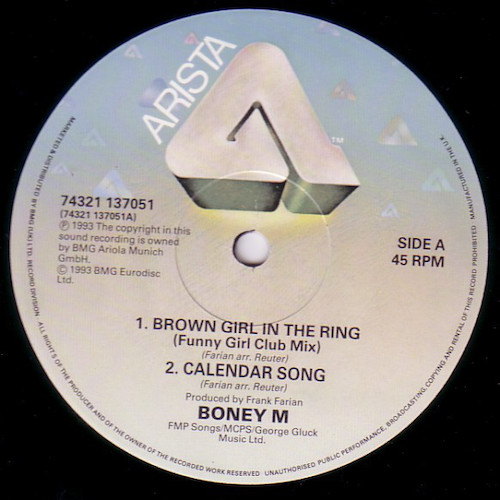 Boney M – Brown Girl In The Ring – A