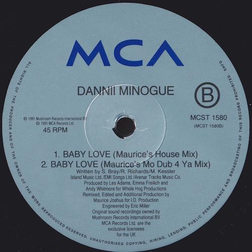 Dannii – Baby Love – B