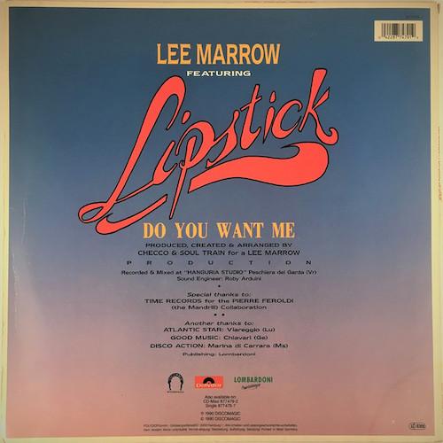 Lee Marrow – Do You Want Me – Back