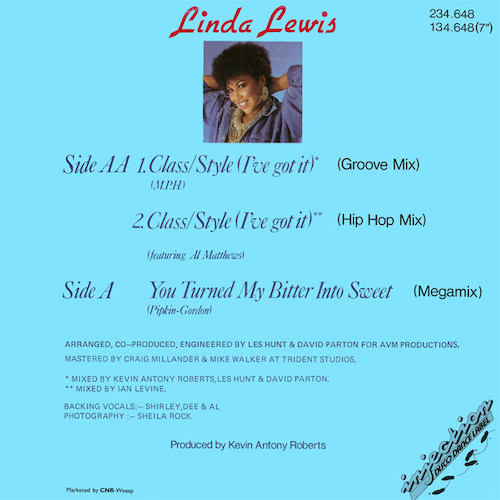Linda Lewis – Class Style – Back
