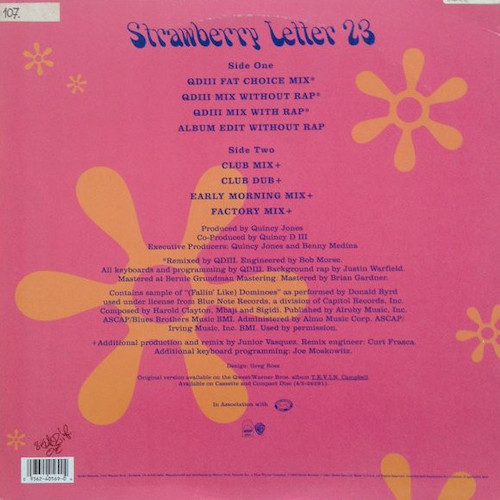 Tevin Campbell – Strawberry Letter 23 – Back
