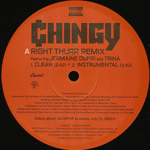 Chingy – Righ Thur – A