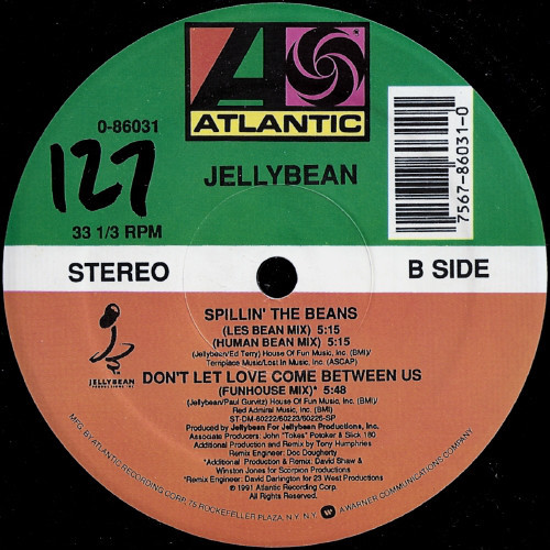 Jellybean – Spillin' The Beans – B