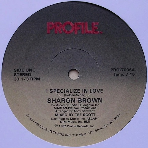 Sharon Brown – I Specialize In Love – A