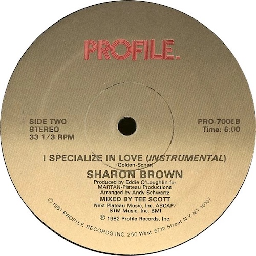 Sharon Brown – I Specialize In Love – B